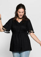 SHEEGO BLACK TUNIC TOP SIZE 14 NEW WITH TAG RRP £42.00