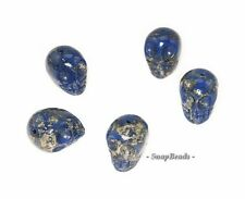 BLUE QUARTZ PYRITE INCLUSIONS GEMSTONE CARVE SKULL HEAD 8MM LOOSE BEADS 10 BEADS
