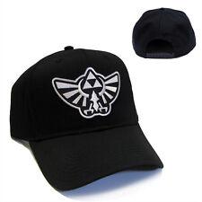 Legend of Zelda Hyrule's Royal Crest Silver Patch Snapback Black Cap Hat - LZ01