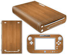Nintendo Wii U Skin Design Foils Sticker Screen Protector Set - Wood Motif