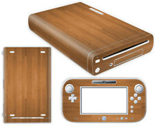 Nintendo Wii U Skin Design Foils Aufkleber Schutzfolie Set - Wood Motiv