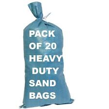 20 HEAVY DUTY SAND BAGS LARGE 750 X 330 mm FLOOD DEFENCE BARRIER COLOUR VARIES