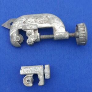 Lot of 2 Vintage Pipe Tubing Cutters General No. 120 & Superior Tool Pro-Line