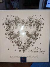 Papyrus Niquea.D 25th Happy Anniversary Card  Silver $10.95