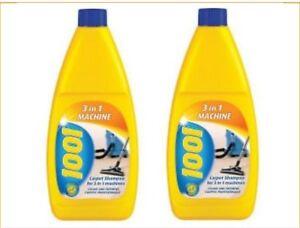 2 x Bottles of 1001 Carpet Shampoo 3 In 1 Machine 500ml .44835
