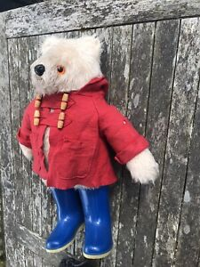 1970's Paddington Bear Gabrielle Designs, Blue Boots, (Moth Holes In Coat)