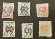 Central Lithuania, perf lot of coat of arms mint w/hr