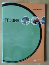 DAEWOO Tacuma Geneva Motor Show 2001 Journalists Press Pack with slides