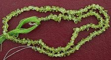 "TEN Apple Green Arizona Peridot Nugget Chip Bead 13"" Strand WHOLESALE CLOSEOUT"