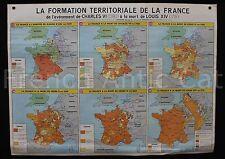 Affiche scolaire histoire France terrotoriale Charles VI Louis XIV Gaulois MDI