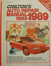Chilton's Auto Repair Manual 1982-1989 Amc, Ford, Chrysler y General Motors