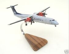 Dash-8 SAS Scandinavian Airlines Wood Model Plane Small Free Shipping