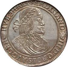Hungary 1651-KB Ferdinand III Taler NGC MS-63