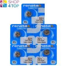 5 RENATA 321 SR616SW BATTERIES SILVER 1.55V SR65 WATCH SWISS MADE EXP 2023 NEW