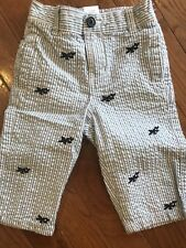 EUC boy seersucker Airplane pant Gymboree 6 12 9 M mos spring celebrations twins