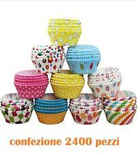 Set 2400 Pezzi Pirottini di Carta Dolci Cupcakes Muffin Biscotti Fantas 7cm moc