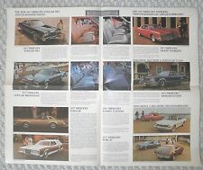 1977 Mercury Brochure / Poster: COUGAR/XR-7,MARQUIS,GRAND,COMET,Lincoln,XR7..'77