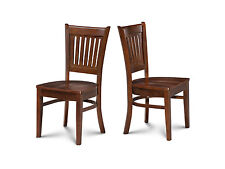 SET OF 4 DINETTE KITCHEN DINING CHAIRS WITH WOODEN SEAT IN  ESPRESSO FINISH