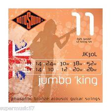 Set rotosound JK30L jumbo king phosphor bronze 12 cordes guitare acoustique-light