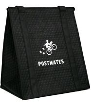 Official Postmates hot cold thermal insulated tote bag w zipper handles PM logo