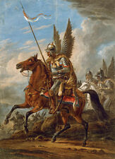 Winged Hussars Kingdom of Poland Calvary Painting - High Resolution Canvas Print