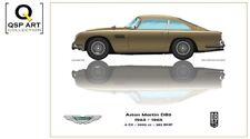 Coffee Mug Gift Set (4 mugs)  Aston Martin DB5 1963 - 1965, Guy Golsteyn
