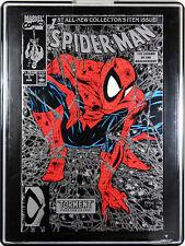 SPIDER-MAN #1 (SILVER VARIANT) COMIC BOOK & COMIC SHOWCASE FRAME ~ McFarlane Art