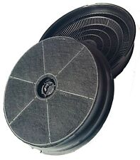 Two Round Charcoal Carbon cooker oven Hood odour extractor Filters for SIA CDA