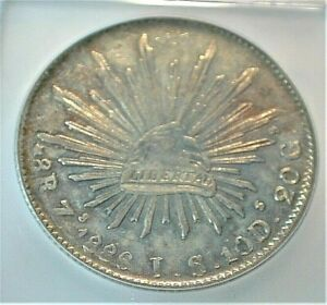 1886-Zs,JS  Mexico Silver 8 Reales ICG MS62 w/ Awesome Toning KM# 377.13  (355)