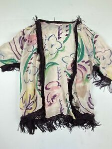 Victorias Secret Women Fringe Kimono Coverup Cardigan Boho Festival Size Medium