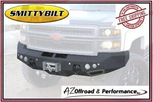 Smittybilt M1 Front Bumper 2014 Chevy Silverado 1500 Truck 612822 Black