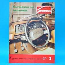 Der Deutsche Straßenverkehr 3/1976 Shiguli 2106 Moskwitsch 2140 Augustusburg F