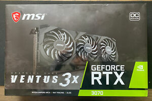 MSI GeForce RTX 3070 VENTUS 3X OC 8GB GDDR6 Graphics Card