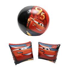 Disney Cars Lightning Mcqueen Arm Floats & Pool Beach Ball Toy Kids 3+