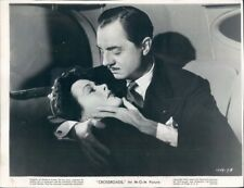 1942 Press Photo William Powell Holds Hedy Lamarr in Crossroads Movie