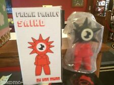 "Von Murr Freak Family Saiko 9"" Designer Vinyl Toy Art MIB BLACK HEAD RED BODY"