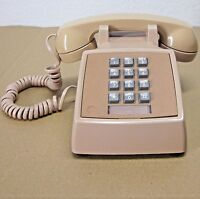 Bell System Western Electric Beige Push Button Desk Phone Model 2500 DMG R83-3