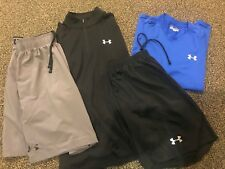 Under Armour Men's gear Shorts 1/4 zip Workout Shirt Medium Loose Gear Heat Gym