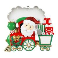 Personalized Christmas Tree Ornament Santa's Christmas TRAIN boy gift