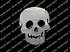 Simple Dumb Skull Metal Cut Out Hot Rat Rod Motorcycle Chopper Bobber Emblem