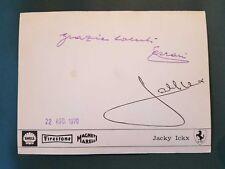 ENZO FERRARI geniune SIGNATURE 1970 postcard Jacky Ickx 312 B autograph original