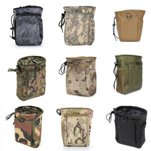 Camouflage Tactical Folding Ammo Magazine Dump Pouch Drop Down Utility Bag NewDS