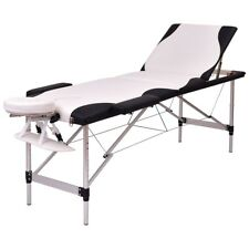 "Portable 72"" L Massage Table Spa Beauty Bed Tattoo w/ Carry Case Black/White Us"