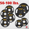 Olympic Weight Plates (50-100 lb Sets) Cast Iron Barbell Plate Home Gym Exercise