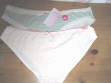 NWT  M&S  ( PACK OF 2 ) COTTON  LOW RISE  BRAZILIAN  STYLE  BRIEFS    SIZE 20