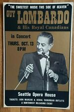 Vintage (1977) GUY LOMBARDO & his royal Canadians Opera Jazz cardboard POSTER