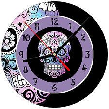 """8"""" WALL CLOCK Sugar Skull 15 Dia de los Muertos Day of the Dead Halloween Tattoo"""