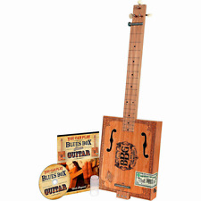 Hinkler Electric Blues Box Slide Guitar 3-String Cigar Box Instruction Book & Cd