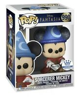 Mint! Sorcerer Mickey (Diamond) Fantasia Funko Shop Exclusive Funko Pop Figure