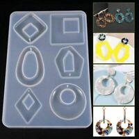 Silikon Ohrring Necklace Pendant Schimmel Resin Casting Jewelry DIY Zubehör